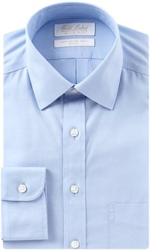 Roundtree & Yorke Gold Label Non-Iron Stretch Slim-Fit Spread-Collar Solid Dress Shirt