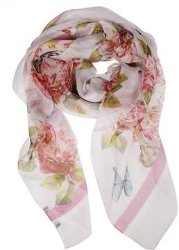 Dolce & Gabbana Floral Butterfly Locked Scarf