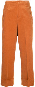 EN ROUTE corduroy straight leg trousers