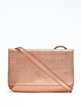Metallic Convertible Flat Crossbody