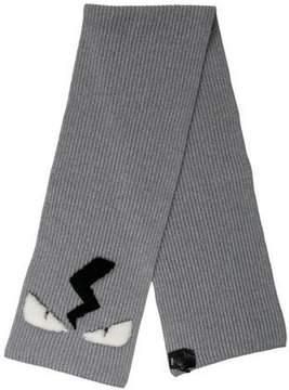 Fendi Monster Wool Scarf w/ Tags