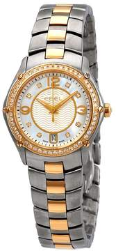 Ebel Sport Mother of Pearl Diamond Dial Ladies Two Tone Watch