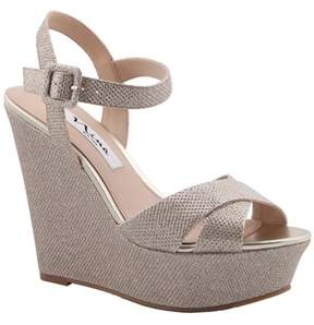 Nina Jinjer Satin Hh Wedge Sandal.