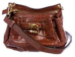 Tom Ford Alligator Lock-Front Crossbody Bag