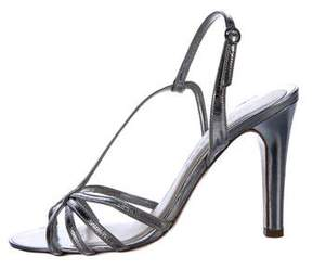 Marc Jacobs Metallic Slingback Sandals