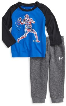 Under Armour Infant Boy's Illuminated Qb Raglan T-Shirt & Sweatpants