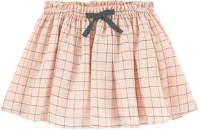 Jean Bourget Checked crepe skirt