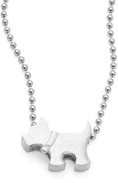 Alex Woo Sterling Silver Scottie Dog Icon Necklace