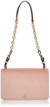 Tory Burch Sadie Velvet Shoulder Bag - BALLET PINK/GOLD - STYLE