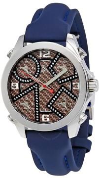 Jacob & co Five Time Zone Brown Carbon Fiber Dial Men's Watch