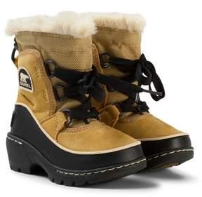 Sorel Beige and Black Children's Torino Boots
