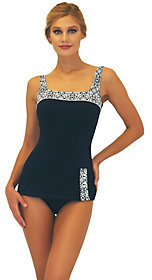 Fit 4 U Fit 4 Ur C's Sea Lace Retro Sheath Swimsuit