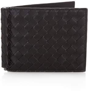 Bottega Veneta Intrecciato leather hinge wallet