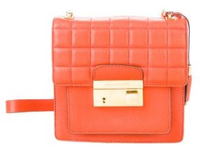 Michael Kors Leather Crossbody Bag - ORANGE - STYLE