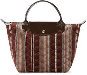 Longchamp Women's Small Printed Short Handle Tote - BROWN - STYLE