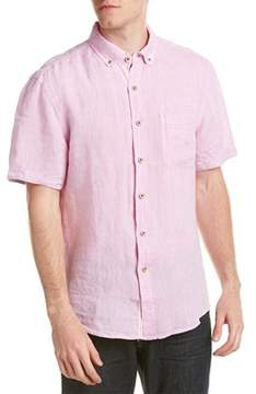 Report Collection Resort Linen Woven Shirt.