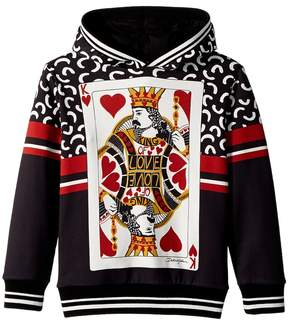 Dolce & Gabbana King of Hearts Hooded Sweatshirt Boy's Sweatshirt