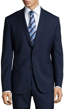 Neiman Marcus Modern-Fit Two-Piece Wool Suit, Navy