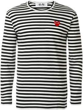 Comme des Garcons round neck striped jumper