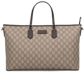 Gucci Sand/brown Gg Supreme Medium Tote - BROWN - STYLE