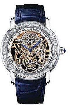 Audemars Piguet Skeleton Tourbillon Diamond Platinum 950 Ladies Watch