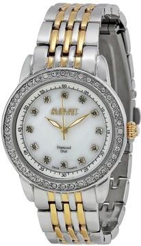 August Steiner Two-tone Diamond Ladies Watch