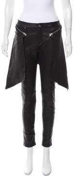 RtA Denim Mid-Rise Leather Pants