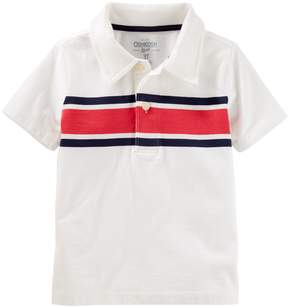 Osh Kosh Oshkosh Bgosh Toddler Boy Striped Panel Polo
