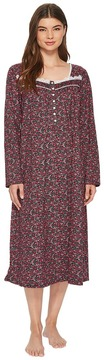 Eileen West Jersey Ballet Long Sleeve Nightgown Women's Pajama