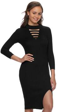 Almost Famous Juniors' Strappy Choker Neck Bodycon Dress