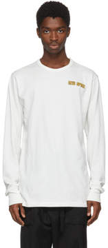 Off-White White Long Sleeve New Space Art Dad T-Shirt
