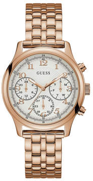 GUESS Rose Gold-Tone Multifunction Watch