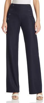 T Tahari Olive Button-Front Pants