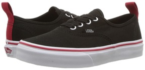 Vans Kids Authentic Elastic Lace Black/Racing Red) Boys Shoes