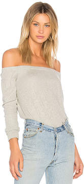 Enza Costa Cashmere Off The Shoulder Top