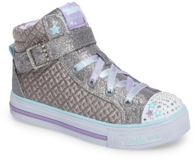 Skechers Girl's Twinkle Toes Shuffles High Top Sneaker