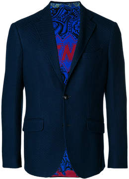 Etro fitted printed blazer