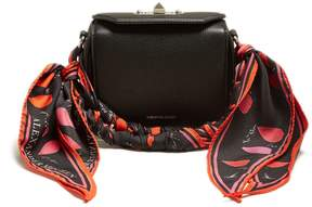 Alexander McQueen Scarf-handle leather box bag