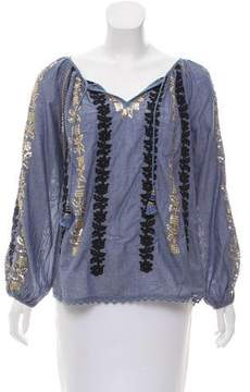 Calypso Argosta Embellished Blouse w/ Tags