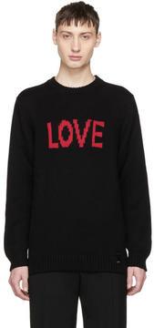 Fendi Black Love Sweater