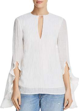 C/Meo Collective Sacrifices Flutter-Cuff Top