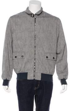 Barena Venezia Houndstooth Zip-Up Jacket