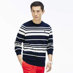 Lacoste Men's Crew Neck Striped Milano Cotton Sweater