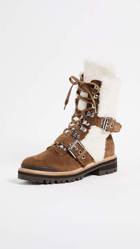 Sigerson Morrison Iris Shearling Buckle Boots