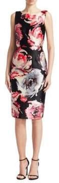 David Meister Sleeveless Floral Dress