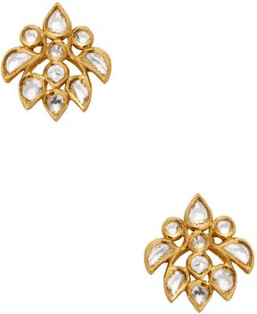 Amrapali Women's 22K Yellow Gold & 1.06 Total Ct. Diamond Stud Earrings