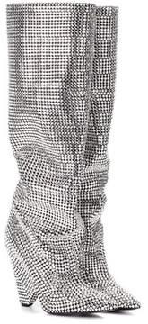 Saint Laurent Niki 105 crystal-embellished boots