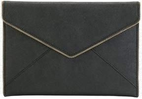 Rebecca Minkoff zip trim clutch - BLACK - STYLE
