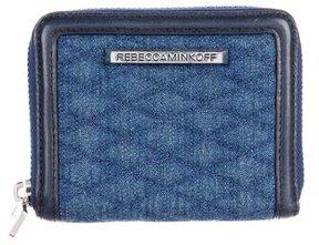 Rebecca Minkoff Mini Ava Zip Wallet - BLUE - STYLE