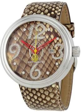 Jacob & co Jacob and Co. Valentin Yudashkin Brown Python Diamond Men's Watch